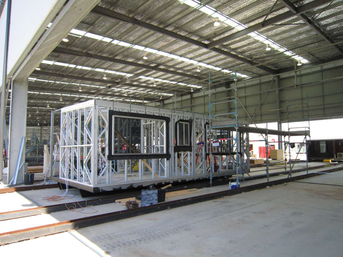 Transportable modular steel building types scottsdale for Production home builders